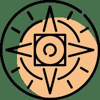 Róża wiatrów symbolizująca pierwszą część trylogii przygodowej Kroniki Saltamontes