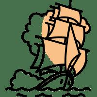 Statek napełnym morzu symbolizujący II tom powieści przygodowej Kroniki Saltamontes