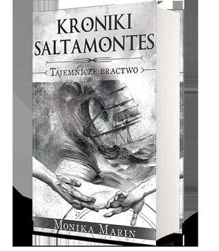 Okładka II tomu książki przygodowej dla młodzieży Kroniki Saltamontes - Tajemnicze Bractwo